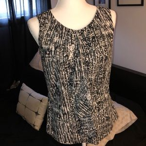 Covington Sleeveless Blouse, Size S